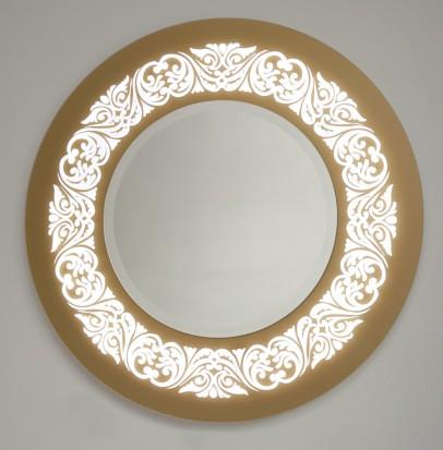 Zrkadlo v ráme okrúhle J1